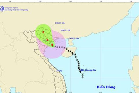 Bão đi sâu vào vùng biển Quảng Ninh - Thái Bình, gió giật cấp 9 -12