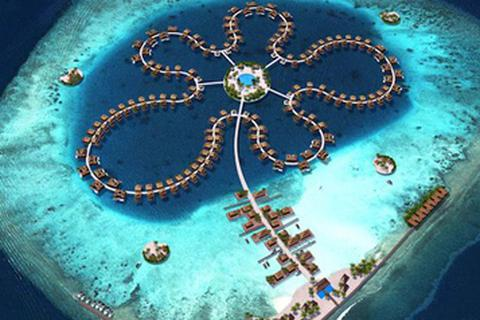 """""""Bông hoa đại dương"""" lộng lẫy ở thiên đường du lịch Maldives"""