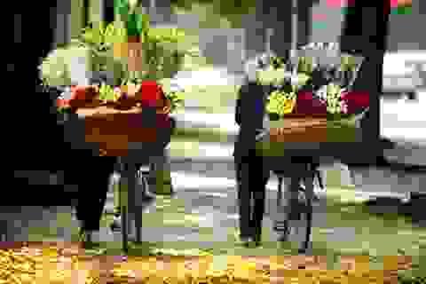 Đẹp nao lòng những gánh hoa rong giữa lòng Hà Nội