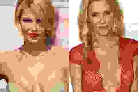Người đẹp Hollywood chơi nổi bằng váy áo hở hang