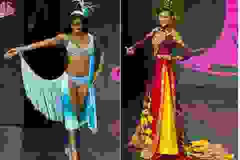 Ngắm Trương Thị May và người đẹp hoàn vũ diện trang phục dân tộc