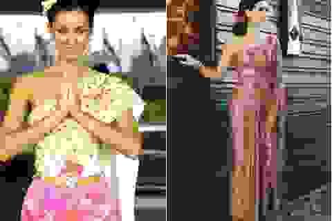 Cựu Hoa hậu hoàn vũ đẹp như mộng với trang phục Thái Lan