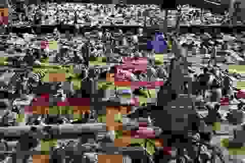 Choáng cảnh hàng ngàn sinh viên vào phòng thể dục ngủ trốn nóng