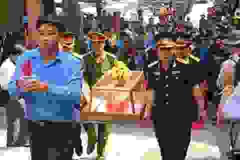 An táng 25 hài cốt liệt sỹ Việt Nam hy sinh tại Lào