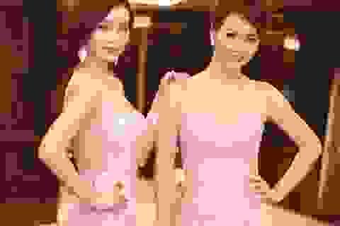 Mai Thu Huyền và chị gái rạng rỡ dự tiệc