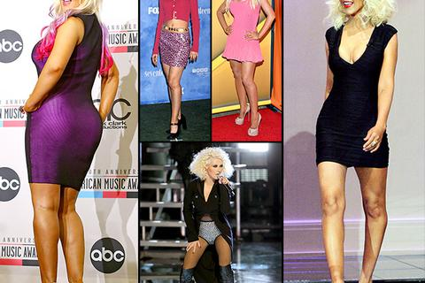 Christina Aguilera: Từ béo tới gầy