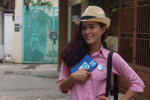 Thùy Trang rạng rỡ tham gia truyền hình thực tế