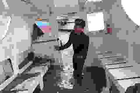 Cận cảnh con tàu chở 30 người gặp nạn ở biển Cần Giờ