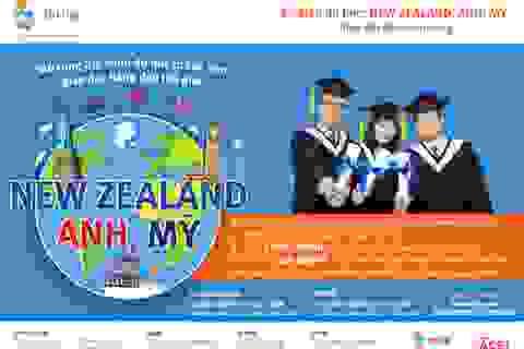 Học bổng du học từ các trường hàng đầu tại Mỹ, Vương quốc Anh và New Zealand