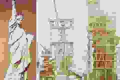 Những bức ảnh đen trắng quý giá về tượng nữ thần Tự Do