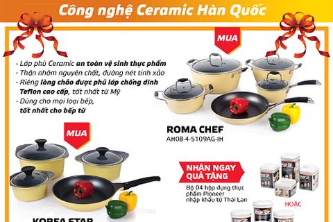 Xu hướng lựa chọn bộ nồi chảo chống dính ceramic của mẹ Việt
