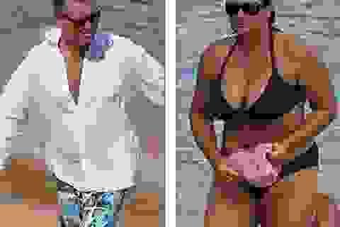 """""""Điệp viên 007"""" Pierce Brosnan hôn vợ say đắm"""