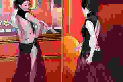 """Phản cảm trang phục """"hở bạo"""" của diễn viên Trung Quốc"""