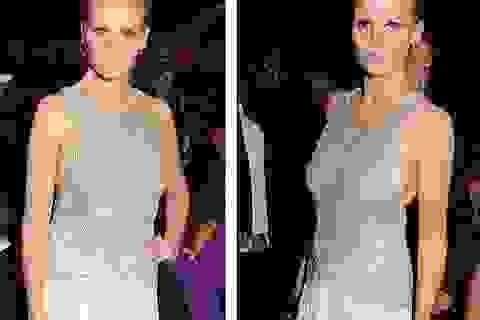 Đỏ mặt với váy áo táo bạo của siêu mẫu tại tiệc từ thiện