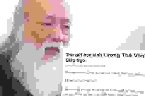 Thầy Văn Như Cương khuyên học sinh dùng tiền lì xì làm từ thiện