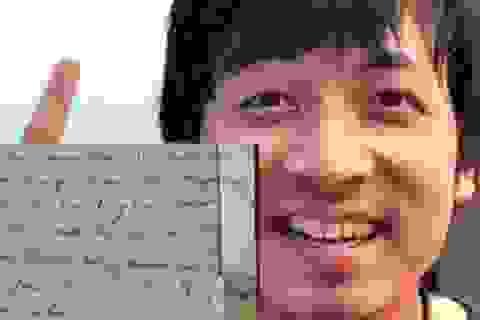 """Lá thư gửi bố thời bé của """"Giáo sư Xoay"""" khiến dân mạng thích thú"""