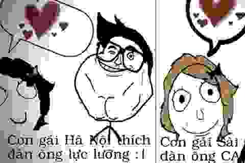 """Dân mạng làm clip """"phân biệt"""" con gái Sài Gòn và Hà Nội"""