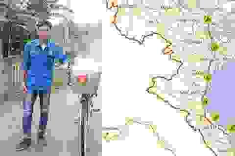 Chàng trai một mình đạp xe vượt 450km để viếng mộ Đại tướng