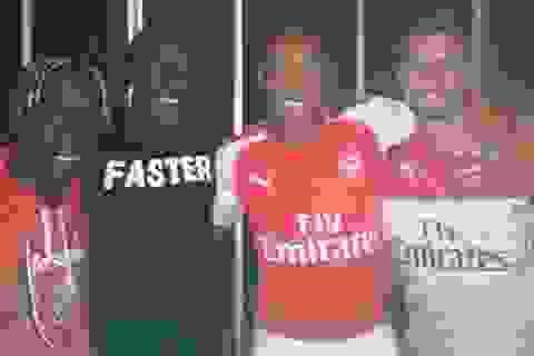 Thiery Henry giúp Arsenal quảng cáo áo đấu mùa tới