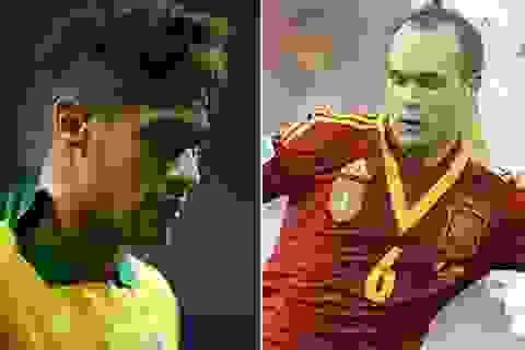 """Neymar, Iniesta cạnh tranh """"Quả bóng vàng Confed Cup 2013"""""""