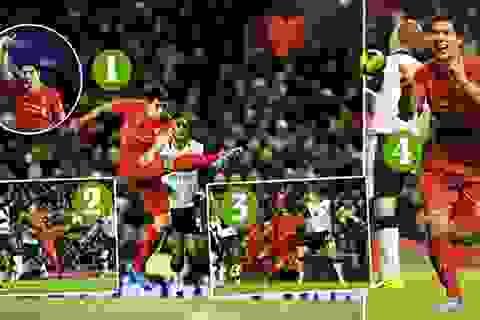 """Ngả mũ trước cú """"poker"""" của Suarez vào lưới Norwich"""
