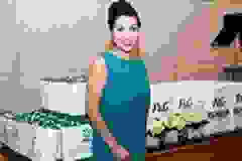 Mỹ Linh là đại sứ cho nhãn hiệu giặt số 1 Châu Âu