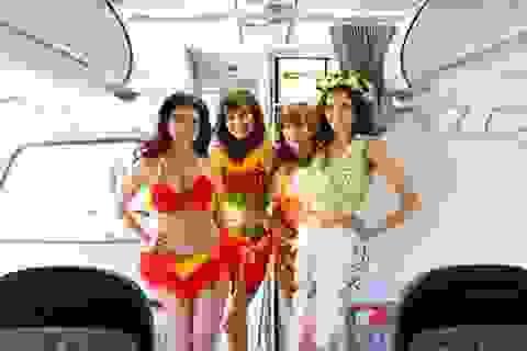 Bikini hoa bay đến xứ sở hoa