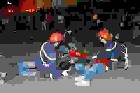 Diễn tập cứu nạn tình huống đám đông chen lấn, giẫm đạp