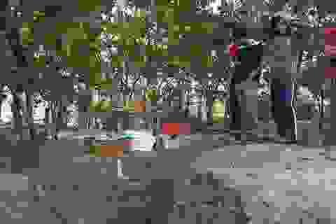 Tạm dừng tìm kiếm hài cốt trong hố chôn người tập thể