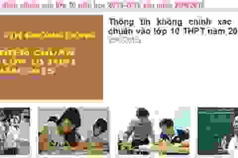 Hà Nội khẳng định chưa có điểm chuẩn vào lớp 10 hệ không chuyên