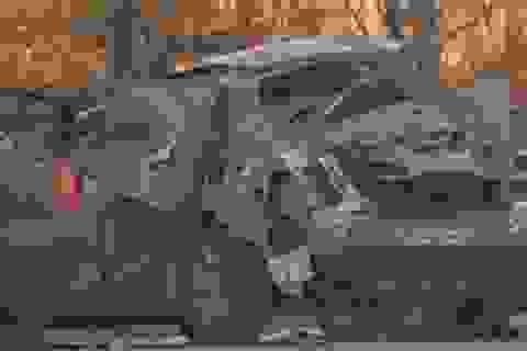 Xe Honda Civic phát nổ vì chở máy hàn
