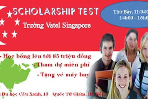Thông báo lịch thi và phỏng vấn học bổng du học Singapore