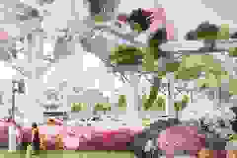 Độc đáo khu vườn trên không xây từ đường cao tốc tại Hàn Quốc
