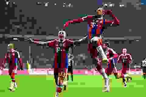 Bayern Munich 1-0 Leverkusen: Bàn thắng thứ 100 của Ribery
