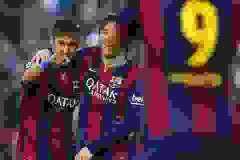 Hủy diệt Getafe, hàng công Barcelona vượt mốc 100 bàn