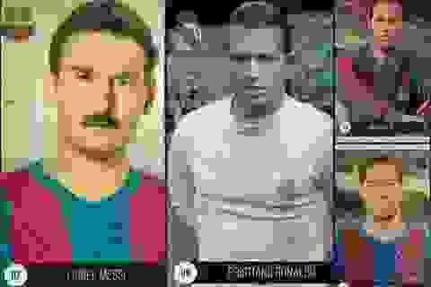 Messi và C.Ronaldo trông như thế nào nếu chơi bóng vào thập niên 1950