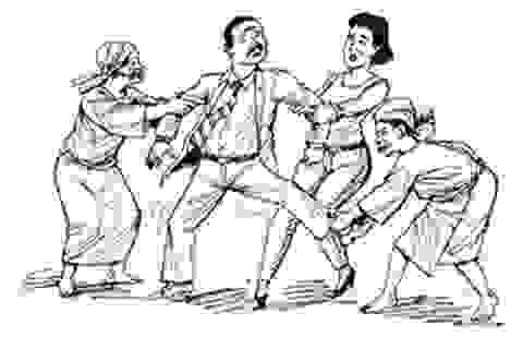 Bi hài chuyện chồng bị 5 người vợ hãm hiếp cho đến chết