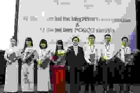 Sinh viên xuất sắc nhận học bổng POSCO TJ Park