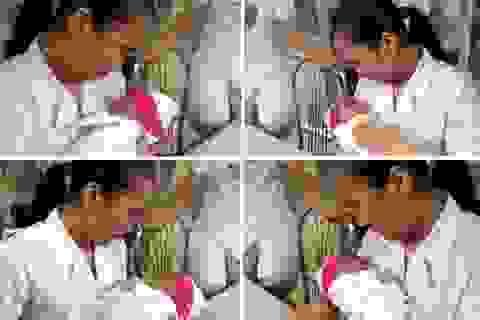 Bé bị bỏ rơi ở Bệnh viện Sản - Nhi Nghệ An đã được đón về gia đình mới