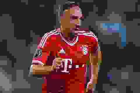 Ribery chính thức lỡ hẹn ở đại chiến với Arsenal
