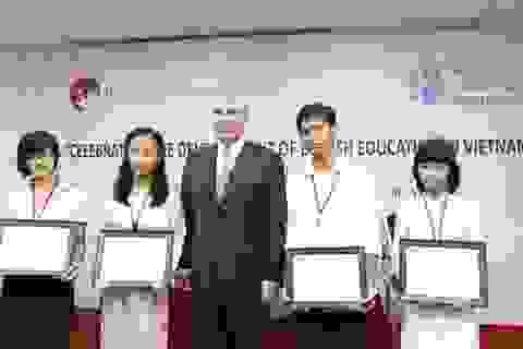 4 học sinh Việt Nam nhận học bổng Hoàng tử Anh tại British University Vietnam
