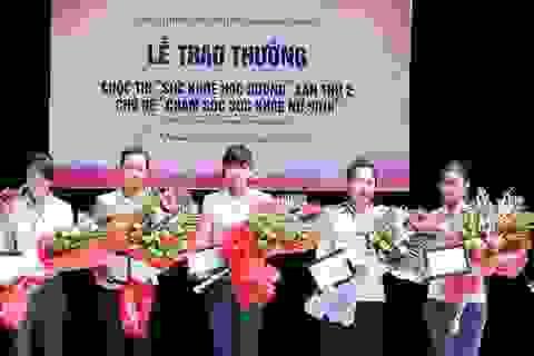 Lễ trao giải cuộc thi chăm sóc sức khỏe nữ sinh