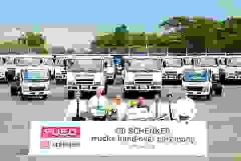 Fuso thực hiện lễ bàn giao lô xe tải đầu tiên cho DB Schenker
