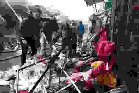 Hà Nội: Chợ Nhà Xanh tan hoang sau đám cháy