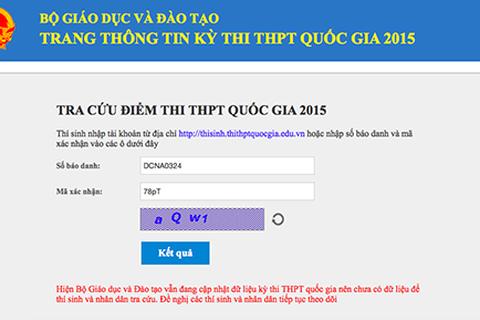 """""""Vật vã"""" ngóng đợi vì website xem điểm thi của Bộ GD&ĐT liên tục lỗi"""