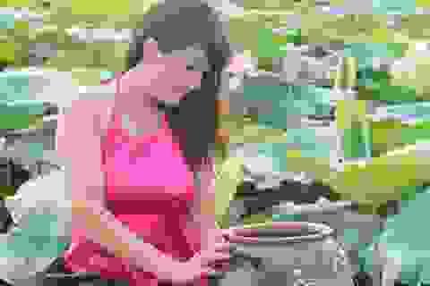 Thiếu nữ Hà thành háo hức chụp ảnh giữa mùa sen nở rộ