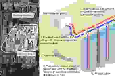 """Nhật chi gần nửa tỷ USD dựng """"tường băng"""" vây nhà máy điện hạt nhân"""