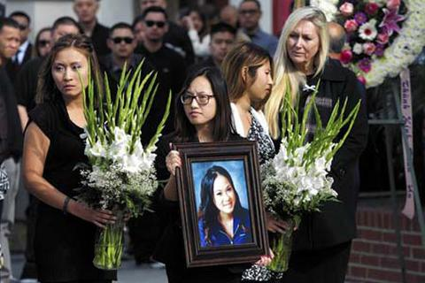 Lễ tang ngày cận Tết của cô gái gốc Việt bị sát hại tại California