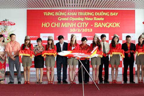 VietJetAir khai trương đường bay quốc tế đầu tiên