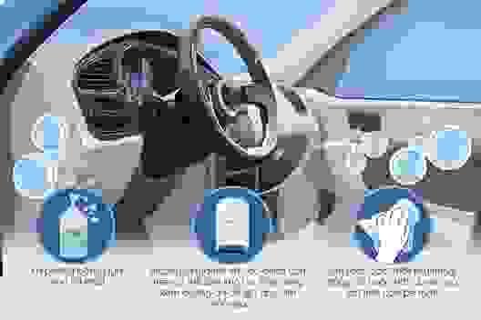 12 vị trí cần lưu ý khi vệ sinh nội thất ô tô để phòng dịch Covid-19
